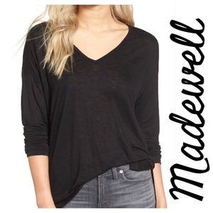 Madewell Anthem Vneck Long Sleeve Tee.